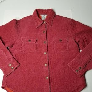 CAbi Women's #54077 Jacket Collar Snap Button Red